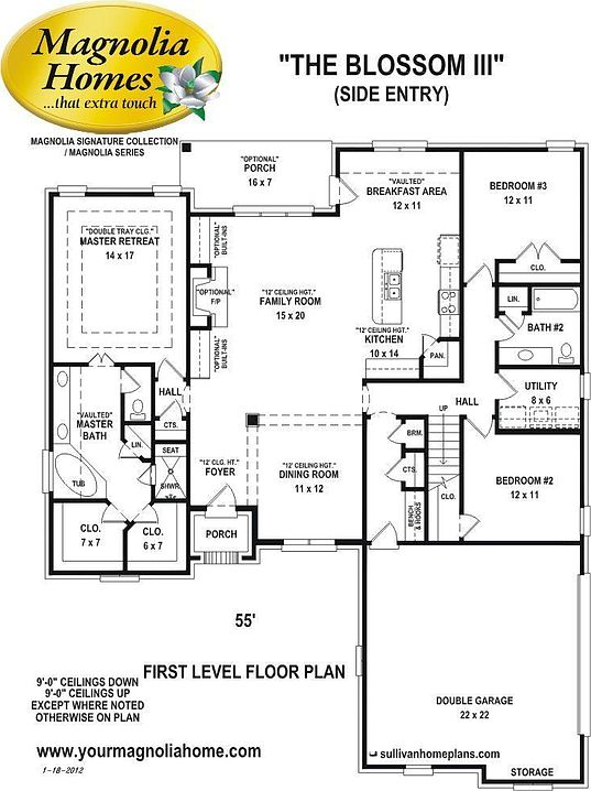 Blossom iii cypress grove by magnolia homes zillow for Magnolia homes cypress grove