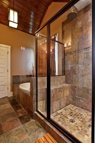 Craftsman master bathroom with pendant light by luxe homes for Bathroom designs zillow