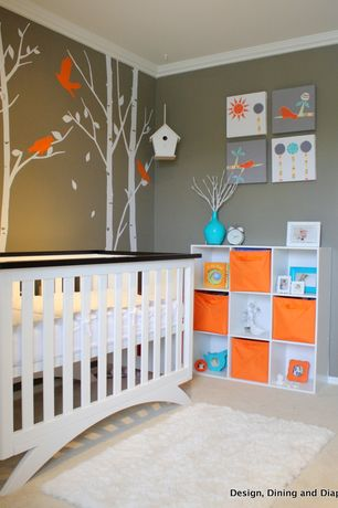contemporary nursery with mural carpet wall decal eden baby furniture madison 4 funky nursery furniture