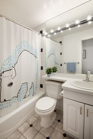 modern full bathroom with drop in sink us ceramic tile bright snow white