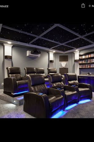 transitional home theater with seatcraft venetian theatre seating row