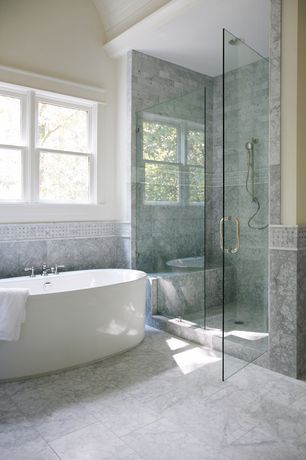 Contemporary master bathroom with double sink inset cabinets flush - Master Bathroom Complex Marble Tile Floors Zillow Digs