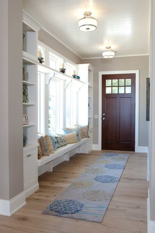 Traditional home office with crown molding built in bookshelf flush - Nasoom Boards Zillow Digs