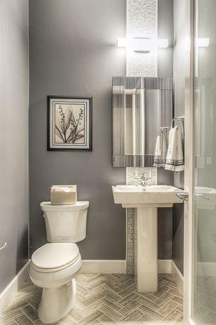 Modern powder room pedestal sink design ideas pictures for 2 piece bathroom ideas