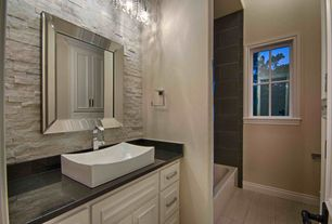 Contemporary Bathroom Design Ideas contemporary master bathroom design ideas 3 Tags Estimate 12000 Contemporary Full Bathroom With Simple Granite Counters Specialty Tile Floors Built In Bookshelf