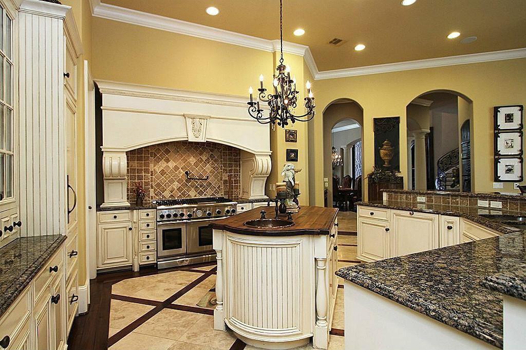 Mediterranean Kitchen With Flush Stone Tile In Houston Tx Zillow Digs