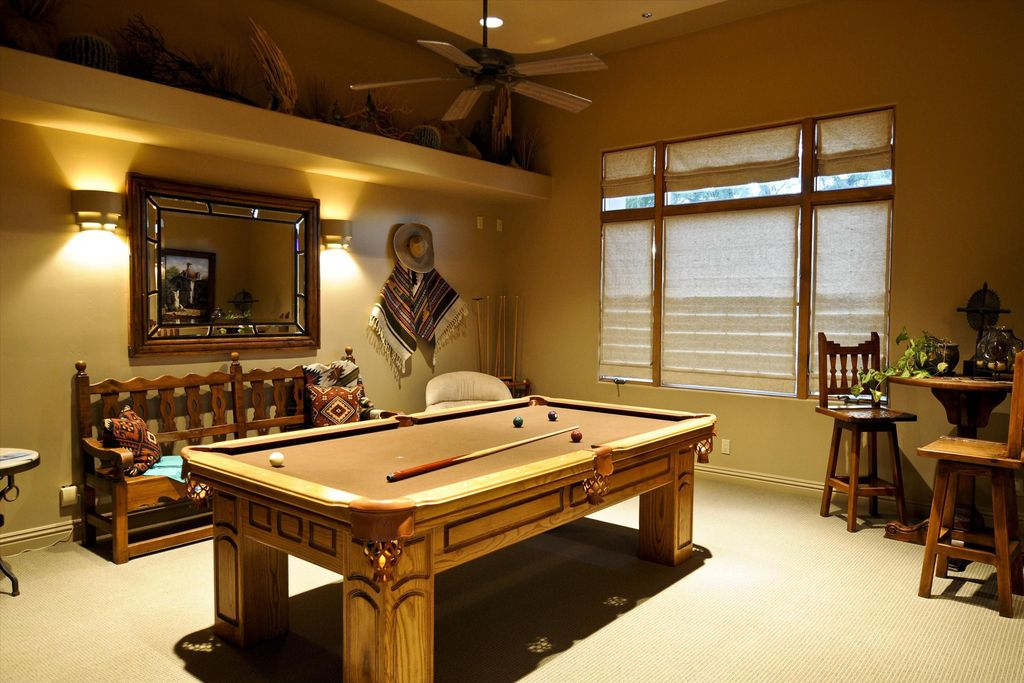 Game Room With Pool Table amp Ceiling Fan In Scottsdale AZ