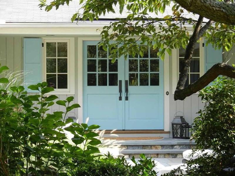 Cottage Front Door With Glass Panel Door Amp Exterior Stone