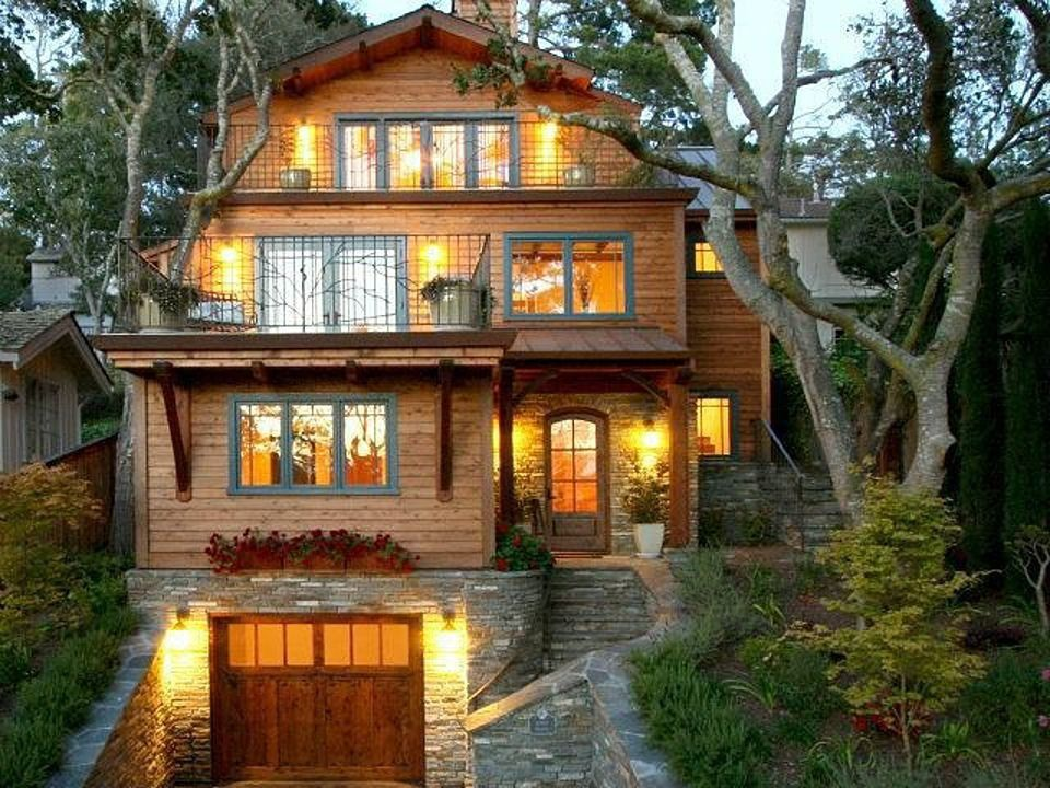 Craftsman exterior of home with exterior accent lighting exterior stacked stone wall zillow digs - Exterior accent lighting for home ...