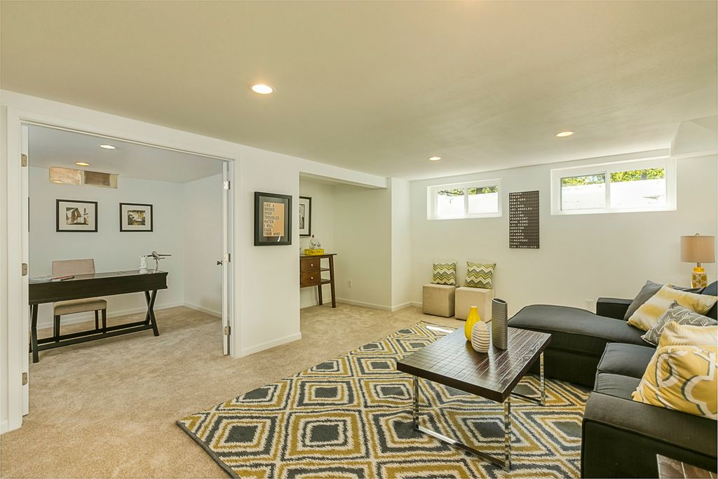 Contemporary Basement With Carpet In Portland OR Zillow