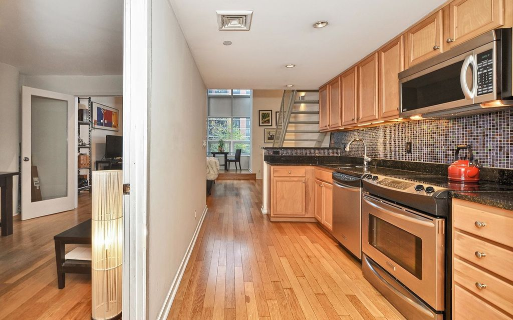Contemporary kitchen with flat panel cabinets undermount for Kitchen cabinets jersey city