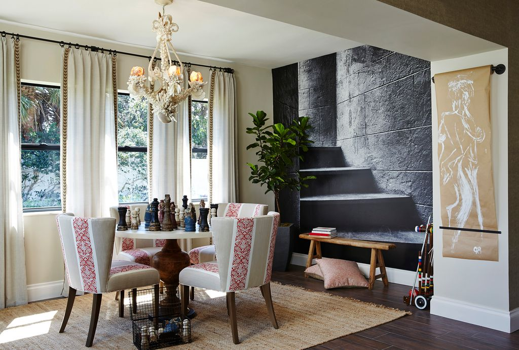 Asian dining room with high ceiling by piper gonzalez for Asian dining room