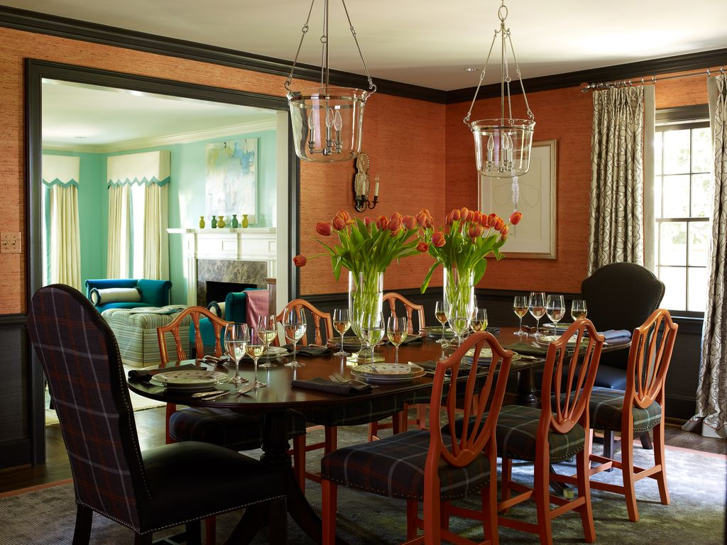 craftsman dining room with chair rail by lindsey coral