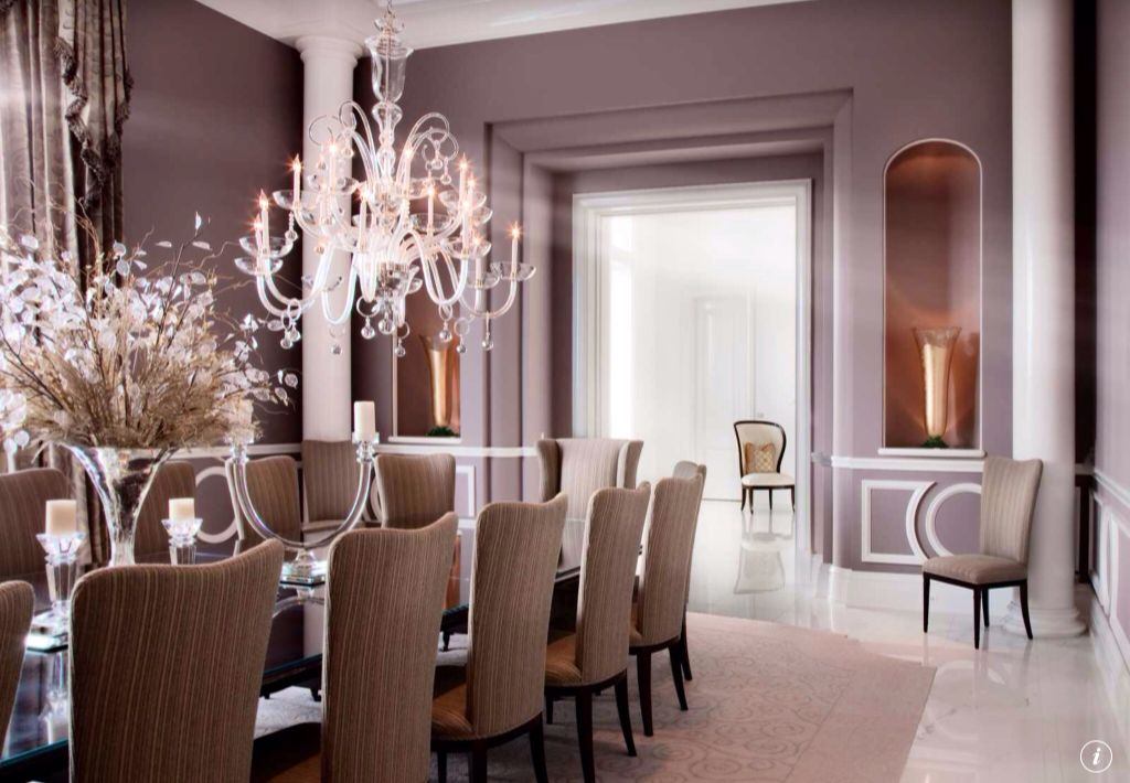Art Deco Dining Room With Concrete Floors Chandelier Zillow Digs