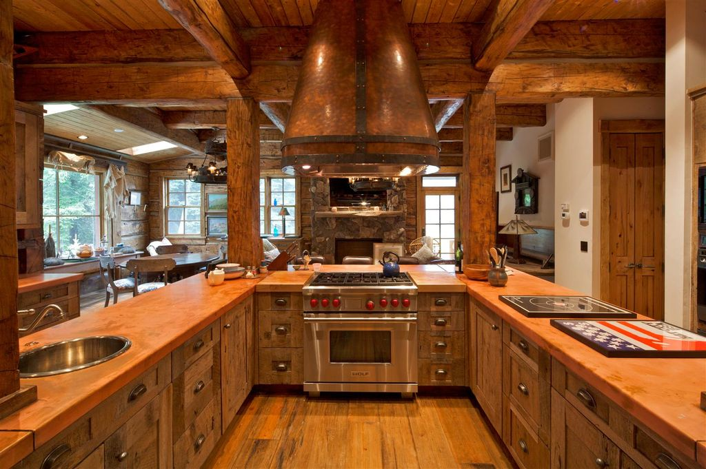 Rustic kitchen with breakfast nook wood counters in for Kitchen ideas zillow