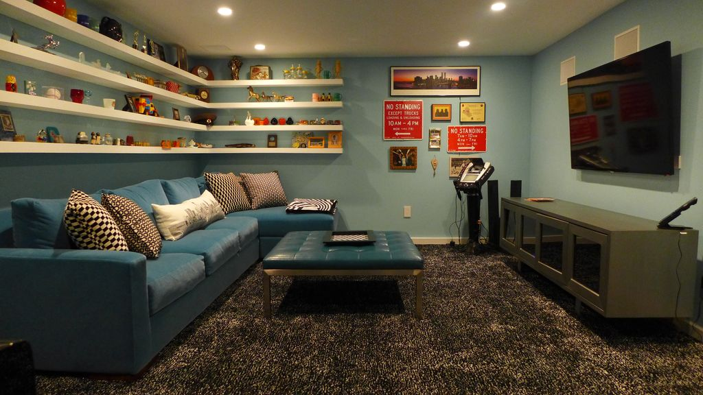 Eclectic Man Cave With Shag Carpet By Christina Salway