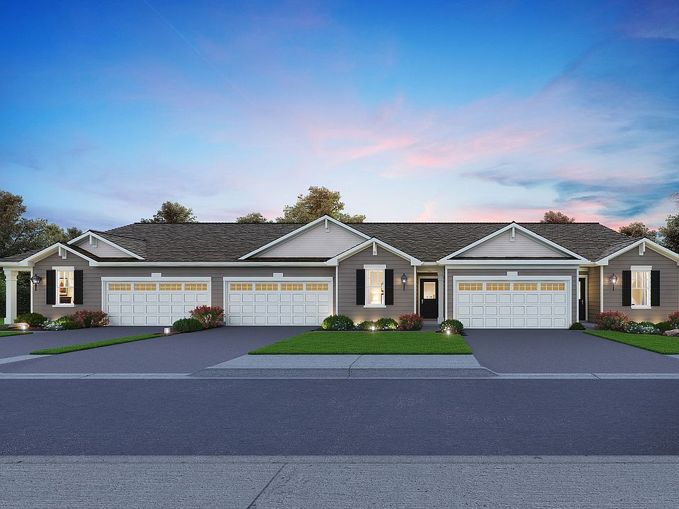 Ashford Plan, Lincoln Valley Ranch Townhomes And Duple, North Aurora, on