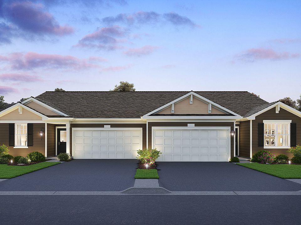 Clara Plan, Lincoln Valley Ranch Townhomes And Duple, North Aurora, on