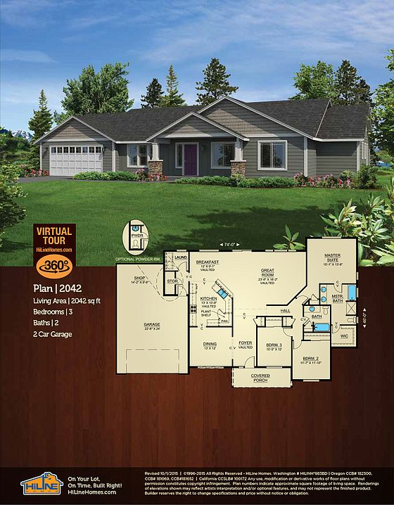 Built on your lot 2042 hiline homes of salem by for Hiline homes