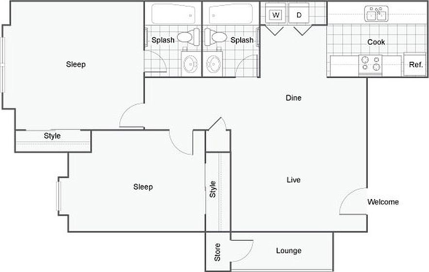 The Bryant Apartment Homes Oklahoma City OK – Bryant Homes Floor Plans