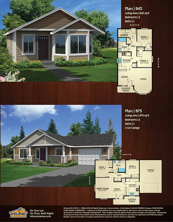 Built On Your Lot 875 Hiline Homes Of Satsop By