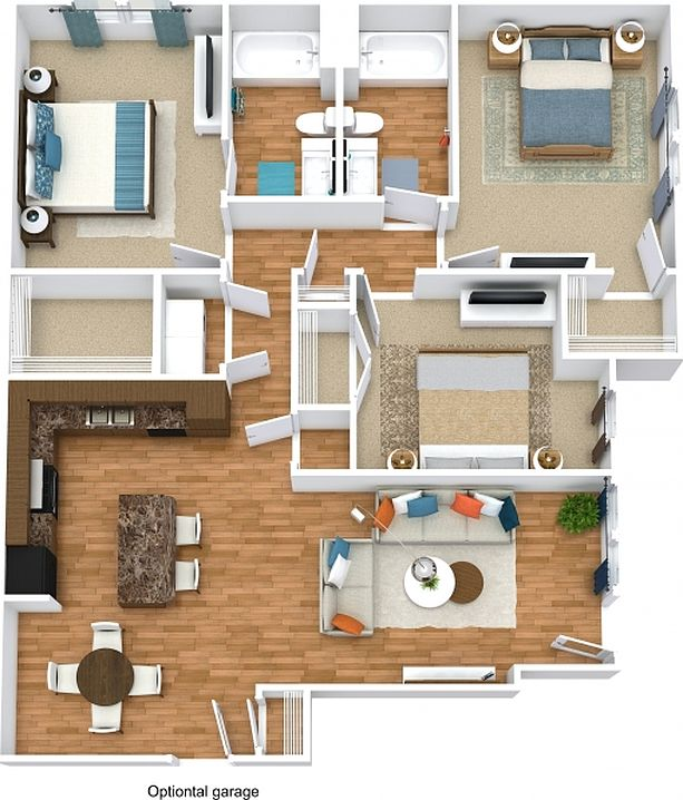 Zillow Rentals Apartments: Retreat At Fremaux Town Center Apartment Rentals