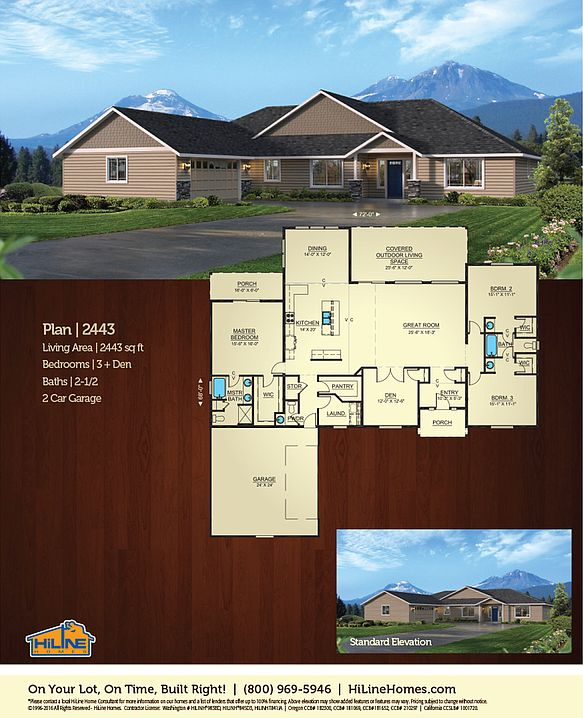 Built on your lot 2443 hiline homes of salem by for Hiline homes