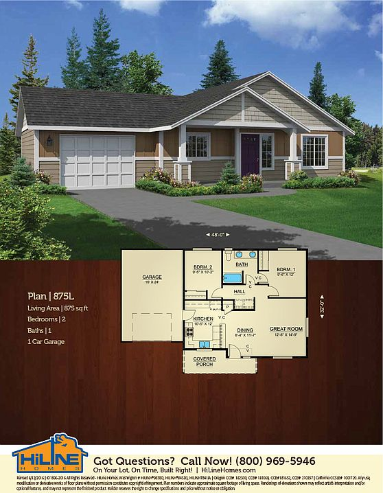 Build On Your Lot 875 Hiline Homes Of Roseburg By
