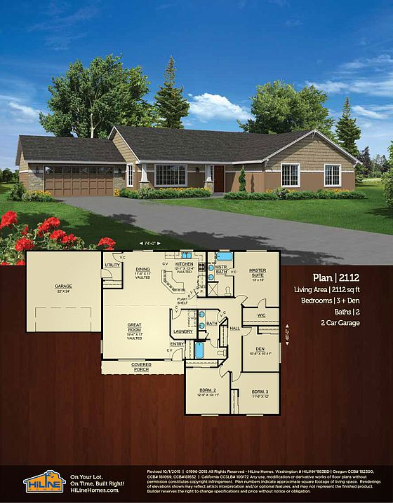 Built on your lot 2112 hiline homes of roseburg by for Hiline homes