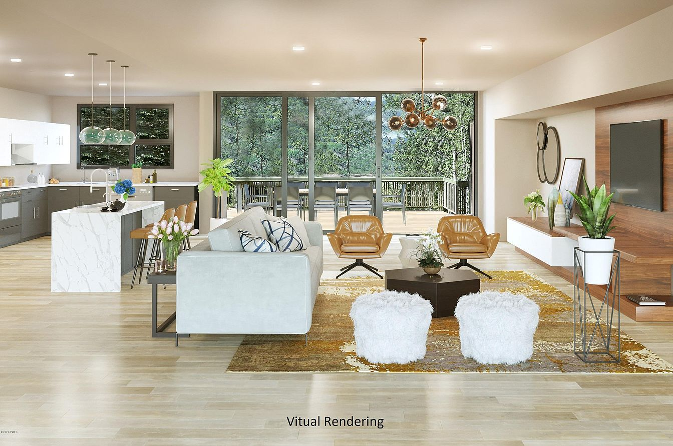 staged living room inside 784 Potato Patch Dr, Vail, CO