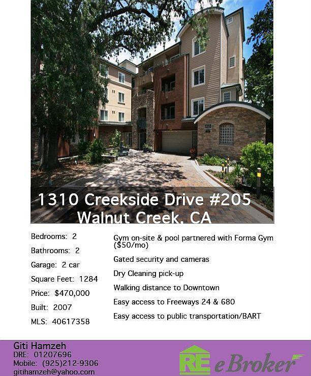 1310 Creekside Dr Unit 205 Walnut Creek Ca 94596 Zillow