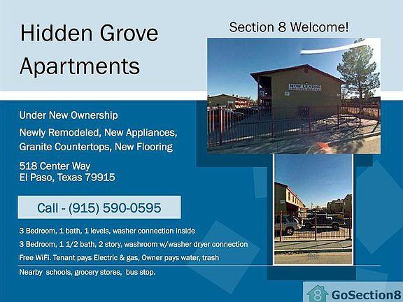 Hidden Grove Apartments Section 8 Welcome El Paso Tx Zillow