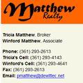 Patricia Matthew, Real estate agent in Hallettsville