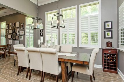 Eclectic Dining Room With Pendant Light High Ceiling In Ponte Vedra FL