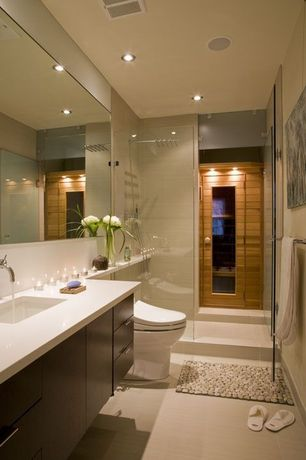 Contemporary 3 4 bathroom with undermount sink by forma for Zillow bathroom design