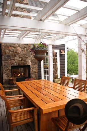 Rustic outdoor fireplace design ideas pictures zillow for Fireplace on raised deck