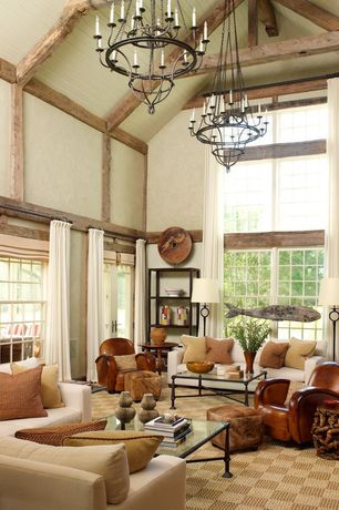 Marvelous Eclectic Living Room With Cathedral Ceiling, Parisian Wood U0026 Zinc  Chandelier 31 Part 20