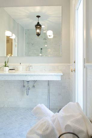 his and hers sink 4 tags master bathroom with complex marble counters console sink frameless showerdoor handheld shower