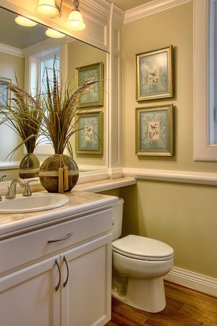 Chair Rail Ideas For Bathroom vannas_istabas8 2c75c895a98a354b49e55aafb92ed66d 4 Tags Traditional Powder Room With Wyndham 24 In W X 18 In D Vanity Cabinet