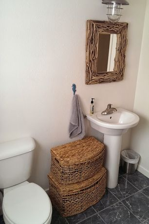 Rustic Bathroom Pedestal Sink Design Ideas & Pictures | Zillow ...