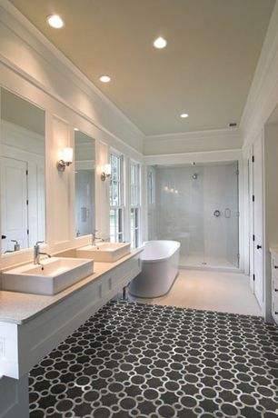6 Tags Contemporary Master Bathroom With Vessel Sink Troy Lighting Bentley 1 Light Bath Wall Sconce