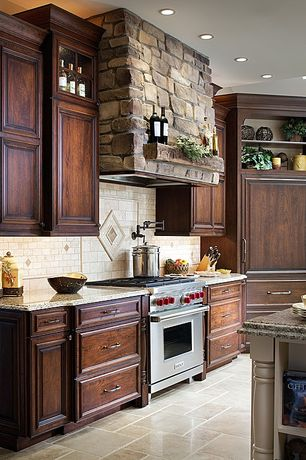 Rustic Kitchen Ceramic Tile Design Ideas & Pictures | Zillow Digs ...