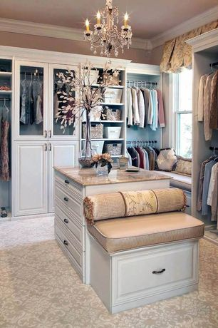 Lovely 5 Tags Traditional Closet With Bordeaux Dream Granite Countertop, Carpet,  High Ceiling, Venice Raised Panel