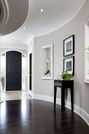 Traditional Entryway With Jerusalem Gold Honed Limestone, Hardwood Floors, Crown  Molding, Sandstone Tile