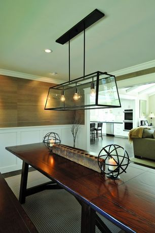 5 Tags Eclectic Dining Room With Pendant Light Crown Molding Hardwood Floors Benchwright Bench
