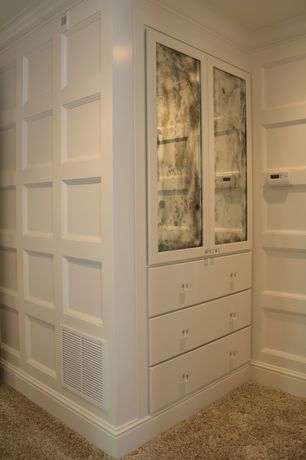 3 Tags Contemporary Closet With Built In Bookshelf Crown Molding Shaw Carpet