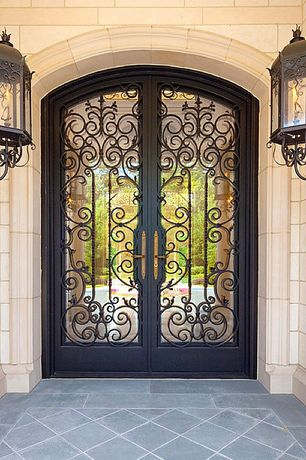 2 tags art deco front door with amos iron door 74 in x 98 in - Front Door Design Ideas