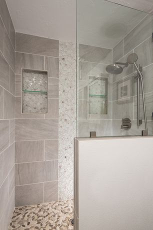 Contemporary master bathroom with handheld shower head by for Bathroom ideas zillow