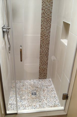 bathroom flooring images contemporary 3 4 bathroom with tiled shower by joshua 10710