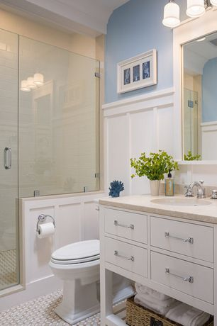 mid-range cottage bathroom design ideas & pictures   zillow digs